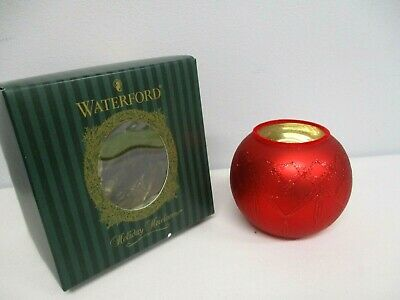 Waterford Holiday Heirlooms Christmas Lismore Votive Red Candle Holder 121613
