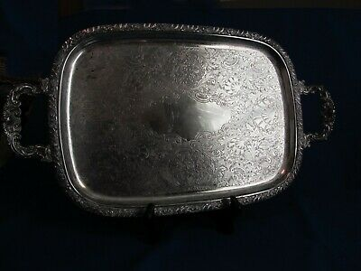 "HENLEY ONEIDA COMMUNITY LTD Silver-Plated Serving Tray 16"" by 11 1/2"""
