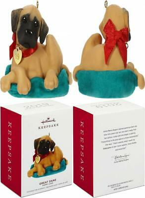 Hallmark Keepsake Christmas Ornament 2019 Year Dated Great Dane Puppy Love