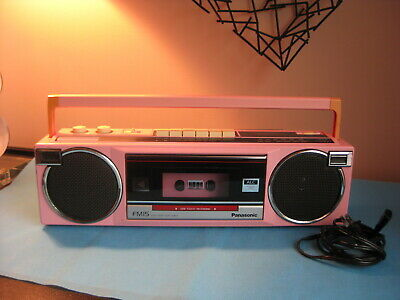 Vintage Panasonic RX-FM15 Cassette Boombox AM FM PINK Tested WORKS