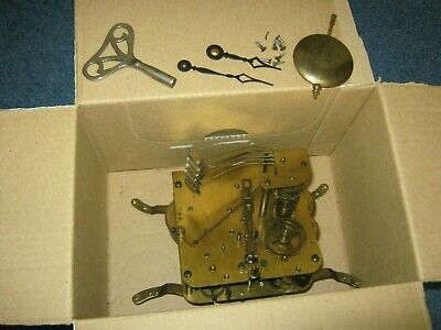 Vintage Mantel Clock Movement,Pendulum+Key,Germany-Sp/Rep.