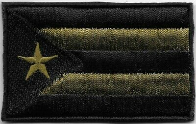 Puerto Rico Woodland Green Black Flag Patch VELCRO® BRAND Fastener Compatible