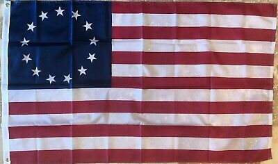 THREE PACK 3x5 ft BETSY ROSS Flag 13 Star USA Historic US American Flag 1776 1ST