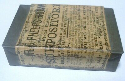 1880 Dr O Phelps Brown Suppositories Quack Medicine Labeled Tin Jersey City N.J.