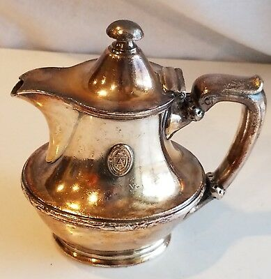 ARLINGTON HOTEL Hot Springs AR Silver Creamer Pitcher Reed Barton Antique Ware