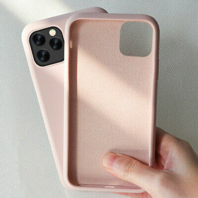 For iPhone 11 Pro Max XS XR 8 7 6s Plus Liquid Silicone Gel Soft Thin Case Cover