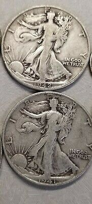 1916-1947 Walking Liberty Half Dollar 90% silver circulated 1 coin random draw