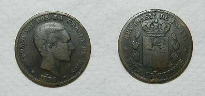 Old Spanish Coin 1879