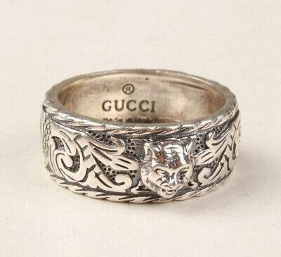 China 925 Silver Hand Carving Tiger Ring Exclusive Custom Gift Collec