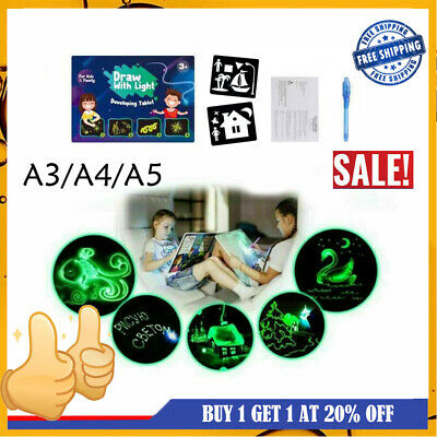 Draw With Light Drawing Board Funny Developing Toy Kids Educational Magic Paint~