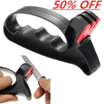 US Black Pro 2 in 1 Handheld Scissors Blade Cutter Sharpener Tools BeautyChic