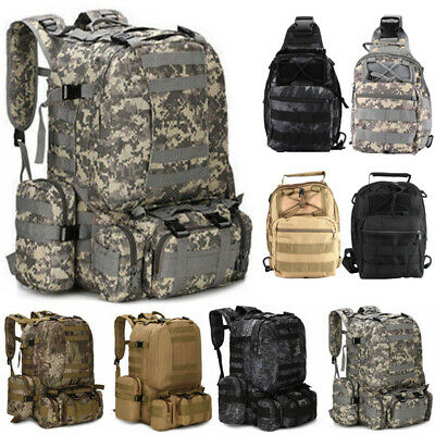 10L 55L Molle Outdoor Military Tactical Bag Camping Hiking Trekking Backpack