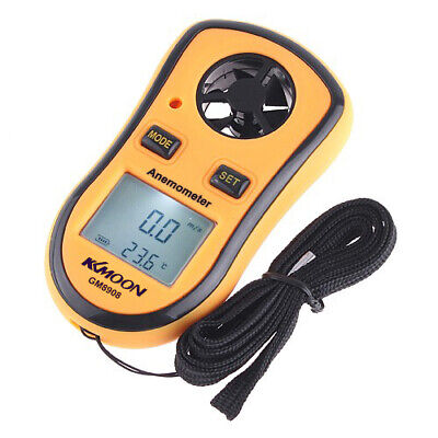 Anemometer Wind Speed Digital Meter LCD Thermometer Air Velocity Temp D1W1