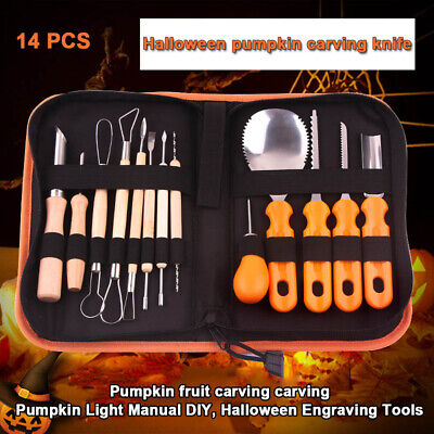 5/14 Pcs Professional Pumpkin Carving Kit Easily Carve Sculpt Halloween Tools