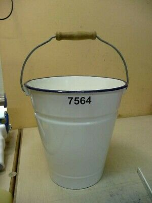 7564. Alter Emaille Email Eimer old email bucket