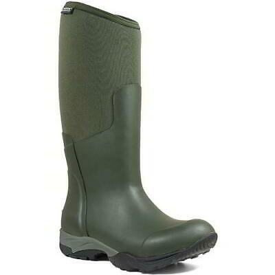 Bogs Essential Light Womens Green Neoprene Wellies Wellington Boots Size 4-8