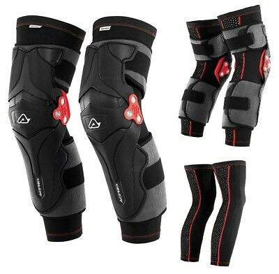 Ginocchiere Acerbis X-Strong Knee Guards Triplo Snodo +Calza Sotto Ginocchiere