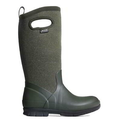 Bogs Crandall Tall Wellies Womens Green Neoprene Wellington Boots Size 5-8
