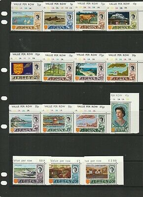 a89 - JERSEY - SG42-56 MNH 1970 DECIMAL DEFINITIVES - MARGINALS - 15v