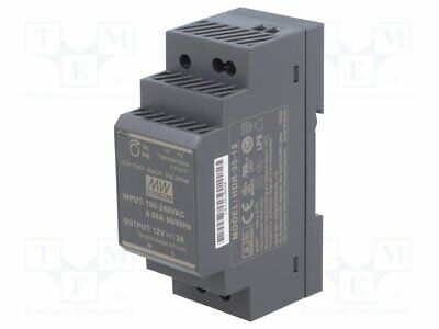 HDR-30-12 Pwr sup.unit: switched-mode - 24W - 12VDC - 10.8÷·13.8VDC - 2A - 120g