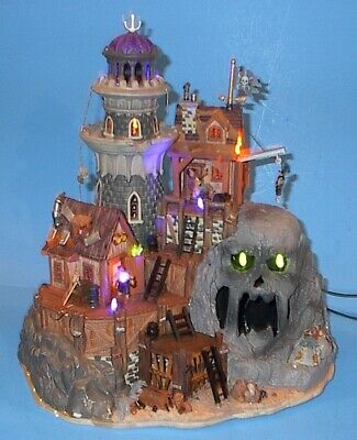Vintage Lemax Spooky Town Isle Of Doom Lighthouse Original Box Listing Others