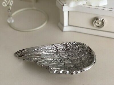 Silver Angel Wing Trinket Tray Dish Plate Jewellery Decorative Home Decor NEW