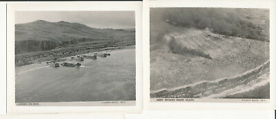 WWII 1940s Official US Navy 2 Photos Kisk landing crafts, Makin Island attack