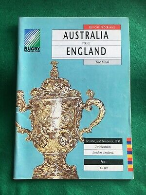 Rugby Union 1991 World Cup Final Australia England Very Good