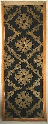 Beautiful Early 19th C. Portuguese Velvet And Metallic Applique Fabric  (2889)