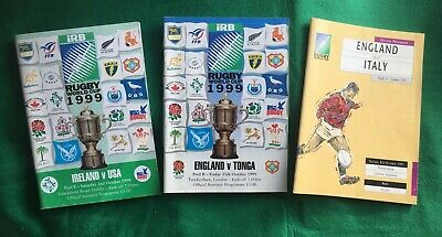 Rugby Union World Cup Programmes Very Good