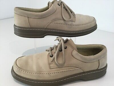 Mens Lotus Cream Leather Shoes Lace Up Comfortable Uk10/44 Smart Casual L/weight