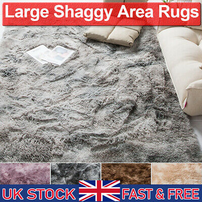 3cm Soft Fluffy Rug Large Shaggy Area Mat Living Room Bedroom Home Decoration UK