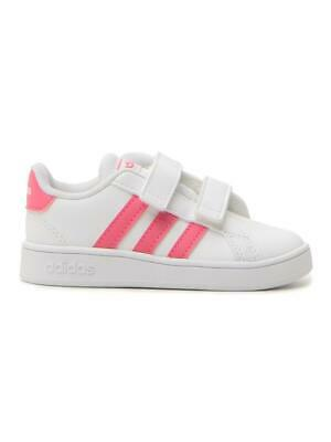 Adidas Grand Court I Bambina  Bianco/rosa In Materiale Sintetico