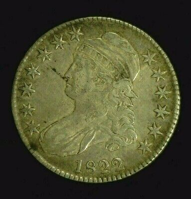 1822 CAPPED BUST SILVER HALF 50c CHOICE VF   (8269)