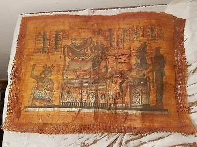Rare Antique Ancient Egyptian Papyrus King Djoser God Khnum Wadjet 2687-2668 BC