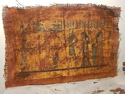 Rare Antique Ancient Egyptian papyrus Judgement Day Scake God Anubis 1830-1740BC