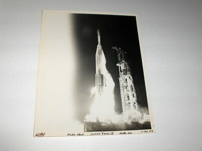 Old 11-26-59 NASA USAF Launch Atlas Able Lunar Probe IV Missile 20D B&W Photo
