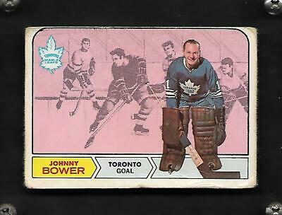 1968-69 Opc Johnny Bower #122 Toronto Maple Leafs