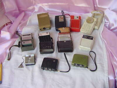 Vintage Big Assorted Lot Collection Transistor Radios Fixers / Junkers
