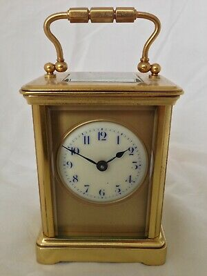 Miniature Antique Carriage Clock, Mantle Clock