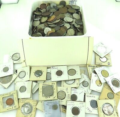 HUGE JOB LOT GENUINELY UNSORTED WORLD COINS APPROX 7.5 Kgs LOOSE + HOLDERS #13