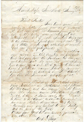 1858 Letter, Mount Hope Iron Works, New Jersey, To Friend, Fort Edward, Robbed
