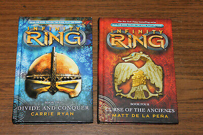 Infinity Ring Books 2 and 4. Divide and Conquer, Curse of the Ancients. Lot of 2