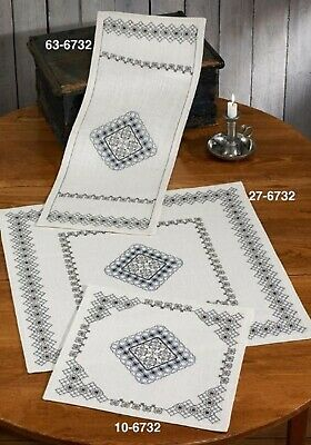 Permin Blackwork inspiration Runner Kit 27cm x 72cm Free Postage