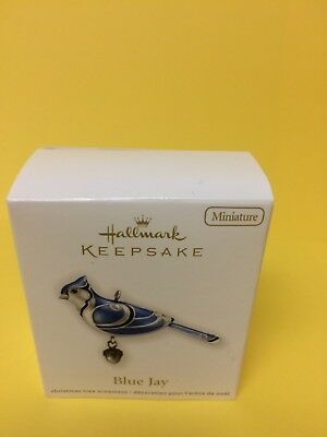 2012 Hallmark BLUE JAY Miniature Keepsake Ornament Beauty of Birds MIB