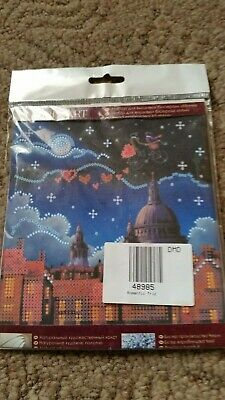 Bead Embroidery Kit Romantic Skyline 15cm x 15cm Free Postage