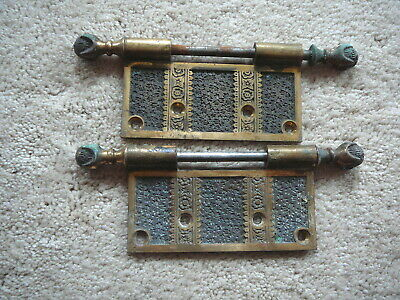 Antique Salvaged Solid Brass Eastlake Door Hinge Parts - Claw & Ball Hinge Pins
