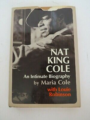 SIGNED Maria Cole Nat King Cole signer musician 1971 book piano Jazz biography