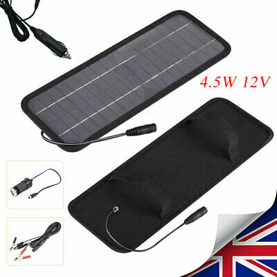 4.5W 12V Solar Panel Car Boat Yacht Trickle Battery Charger Outdoor Power Supply