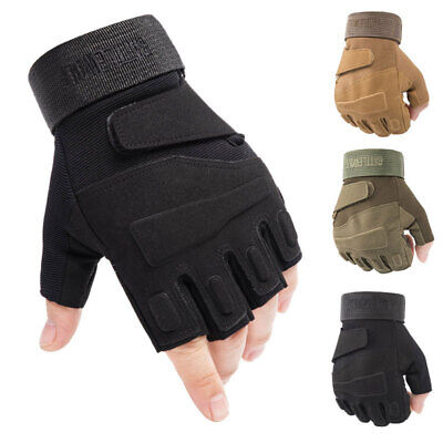 Tactical Half Finger Gloves Mens Outdoor Sports Army Military Combat CS Airsoft
